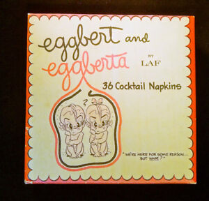 """Eggbert & Eggberta"" 1962 Napkins Baby Shower Set of 36"