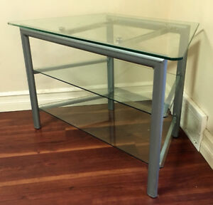 Tempered Glass Entertainment Stand / Unit (3 shelves)