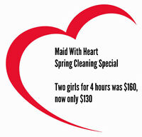 Maid With Heart Spring Clening Special