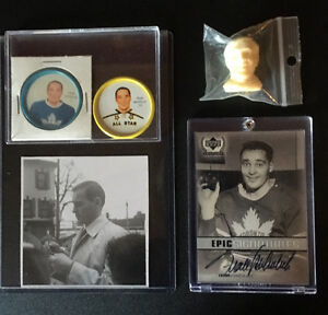FRANK MAHOVLICH Collection of Hockey Items TORONTO MAPLE LEAFS