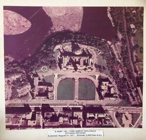 Photo aérienne du parlement canadien – Ottawa