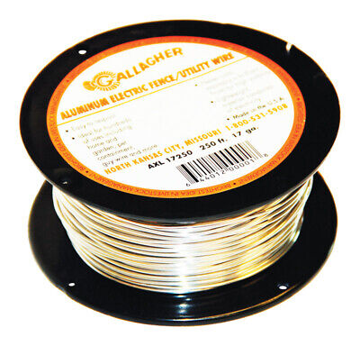 Gallagher 17 Gauge Aluminum Electric Fence Wire 250 Ft. Silver