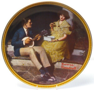 """Pondering On The Porch"" Rockwell Collector Plate"