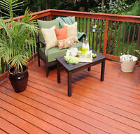 WINTER protection with new stain for your deck