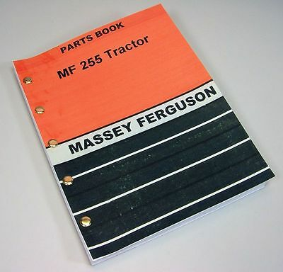 Massey Ferguson 255 Tractor Parts Catalog Manual View Assembly Gas Diesel