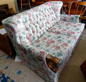 Like New Love Seat with rose print