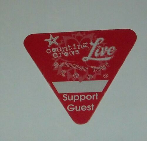 UNUSED OTTO SATIN CONCERT SUPPORT GUEST BACKSTAGE PASS COUNTING CROWS LIVE 2000