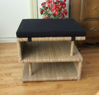 Pier One Imports S-Shaped Seat / Bench with Storage