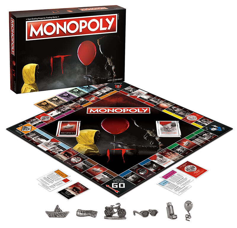USAopoly MONOPOLY® Call Of Duty, IT, Guardians of The Galaxy, Warhammer  ... IT