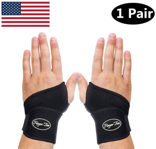 Wrist Brace Support 1 Pair Carpal Tunnel Arthritis Sprain Pa