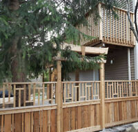 Fences, Decks, Pergolas, Stairs, Railings, Flagstone Porches