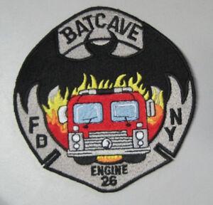 NYFD Pompier Incendie New York Batman Batcave Patch Écusson
