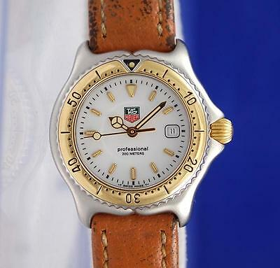 Ladies Tag Heuer Link Sel 18K Gold & SS Steel watch - White Dial - WI1350