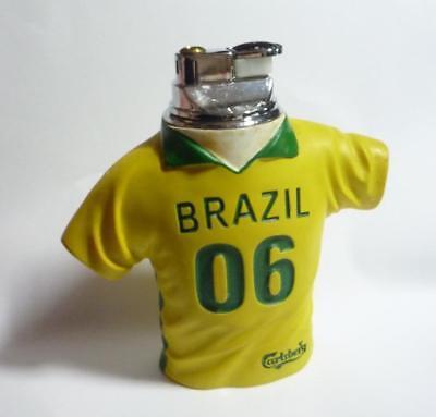 CARLSBERG Beer LIGHTER BRAZIL Shirt  FIFA World Cup 2006 Singapore Issue