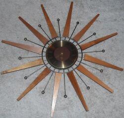 Seth THOMAS Star SUNBURST Sunburst Atomic Space Age Wall Clock