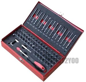 Neilsen 75pc Security Screwdriver Set Tamper Proof Bits Hex Magnetic Driver