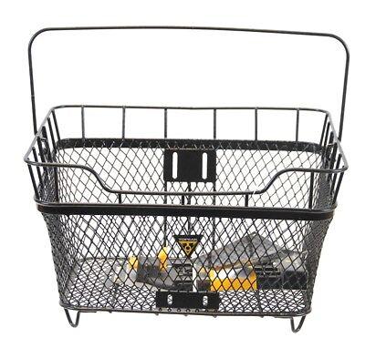 Jango MTX Rear Basket Quick Track Metal Black Shopping Bike