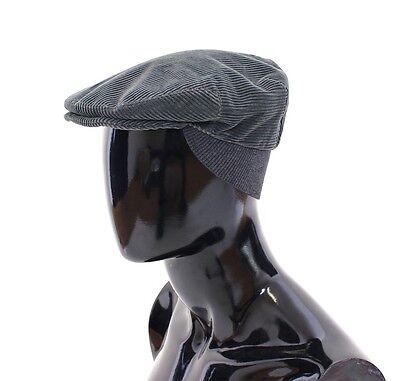 NWT $360 DOLCE & GABBANA Green Cotton Logo Newsboy Cap Hat Cabbie s. 59 / L