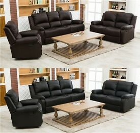BRAND NEW HIGH QUALITY RECLINER SOFAS 3+2+1 SEATER 6 SEATER COMFORTABLE SOFAS FOR LIVING ROOM OFFICE