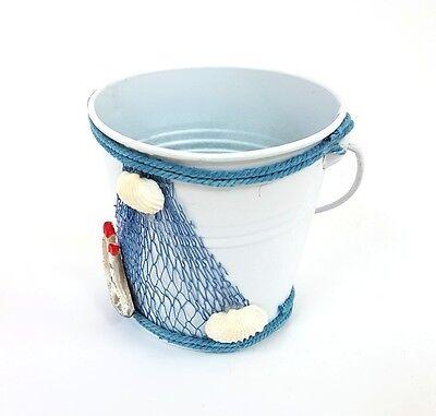 Mini Secchio Latta Sea Style Porta Oggetti Decorazione Casa Arredamento moc