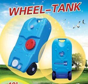 Portable Wheel Water Tank Camping Motorhome Caravan Storage Waste Transport 40L