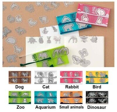 Midori Etching Clips Paper Gem Animal Box Of 16 Stainless Kawaii Cute From Japan