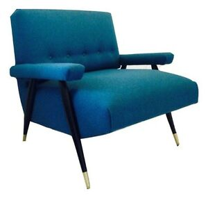 Mid Century Club Lounge Arm Upholstered Chair  London Ontario image 1