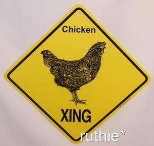Chicken Crossing Xing Sign New Made in USA