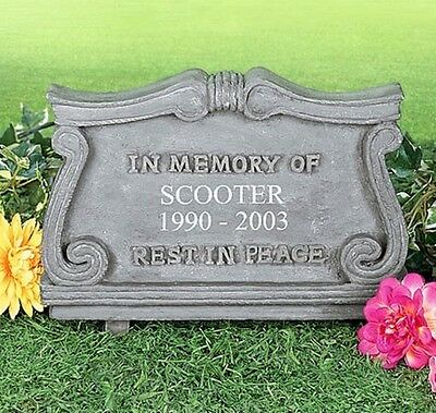 PERSONALIZED ~ Pet Memorial Monument Cemetery Grave Head Stone Outdoor Dog Cat
