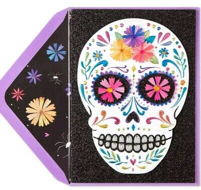 Papyrus Day of the Dead Skull Halloween Celebrate Day Cinco de Mayo Any occasion
