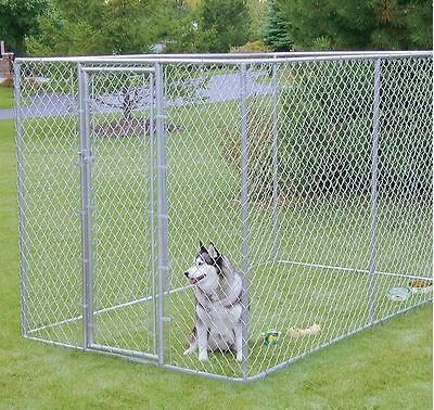 XXL OUTDOOR DOG KENNEL LARGE TALL CHAIN LINK FENCE PET ENCLOSURE RUN S