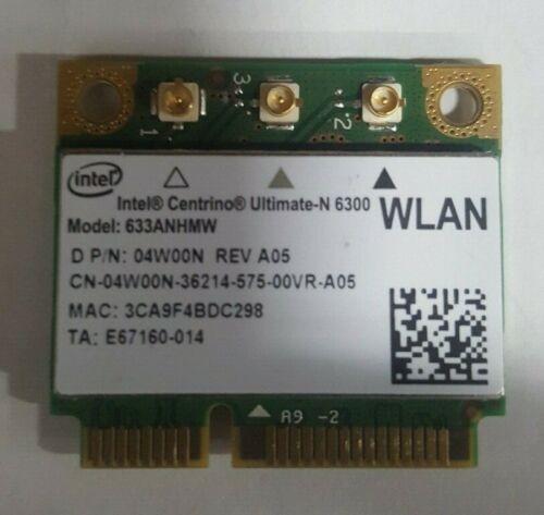 Intel Centrino Ultimate-N 6300 WLAN PCIe Half Wifi Card 04W00N 4W00N 633ANHMW