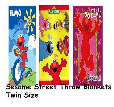 Sesame Street Elmo Plush Throw Blanket Twin/full Size 60x80