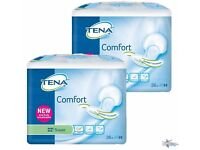 TENA Comfort Super Incontinence Pads - Case of 2 packs of 36