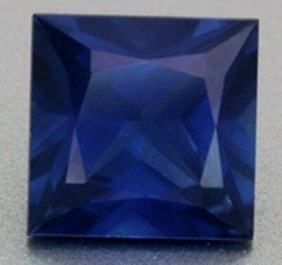 4 ct Blue Square Cut VintageTop Russian Quality CZ Sapphire Simulant 9 x 9 mm