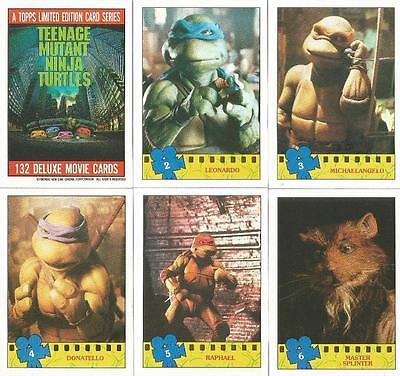 Teenage Mutant Ninja Turtles Movie Photo Card Set of 132 Cards + 11 Stickers