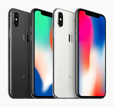 Apple iPhone X 64GB / 256GB Smartphone - Unlocked - Gray / Silver