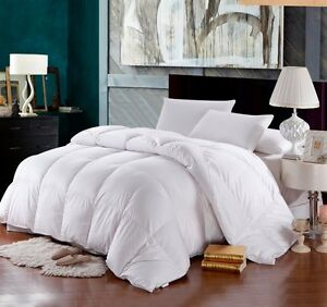 1200TC KING / CAL KING Size GOOSE DOWN ALTERNATIVE Comforter, White SOLID