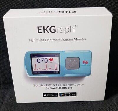 New Ekgraph Handheld Electrocardiogram Monitor By Sonohealth Portable Ekg Ecg