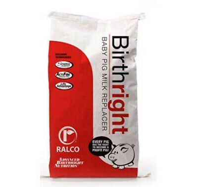 Ralco Birthright Pig Milk Replacer 25 Pounds Baby Pig Performance Powerful