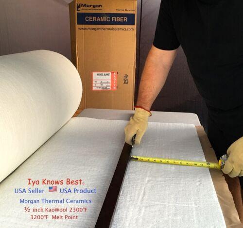 "Kaowool 1/2""x12""x24"" Thermal Ceramics Fiber Insulation Blanket 8# Muffler Stove"