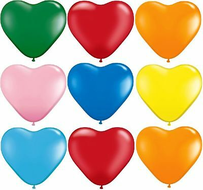 100 ❤ mix love* HEART BALLOONS* brthdy Party Romantic ballon Valentines Birthday (Valentines Ballons)