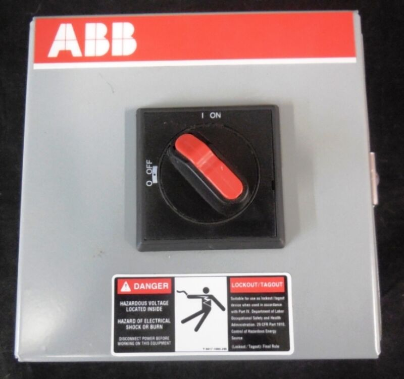 ABB ELECTRICAL ENCLOSURE FOR DISCONNECT SWITCH, NF321-3PBJA, EDI JH1-060604