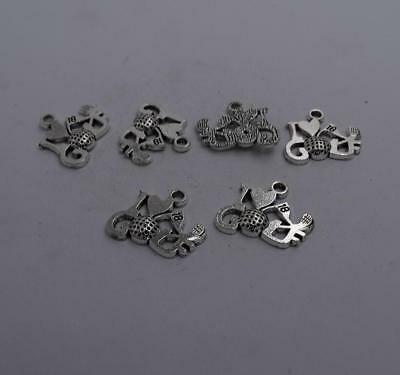 6pcs Antique silver plated nice I love golf charm pendant T0684 (Golf Charms)