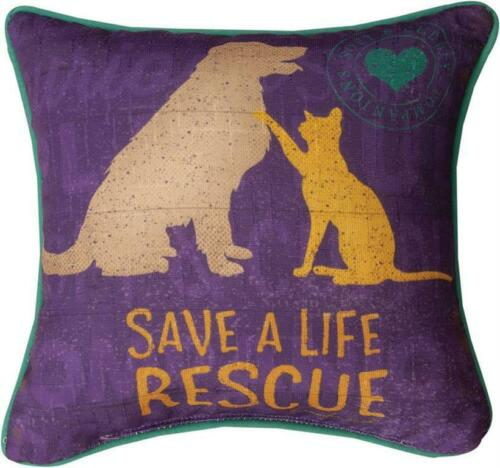 "RESCUED ""SAVE A LIFE"" PILLOW"