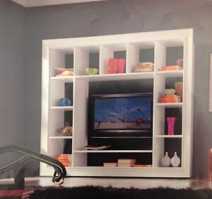 PARETE ATTREZZATA MODERNA PORTA TV PLASMA LCD SOGGIORNO MODERNO SOGGIORNI LEGNO  eBay