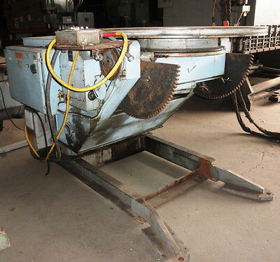 6000 Lb. Aronson Ge-60a Geared Elevation Welding Positioner