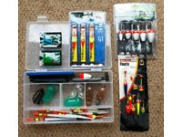 Course Fishing Tackle in box, Floats, Feeders etc