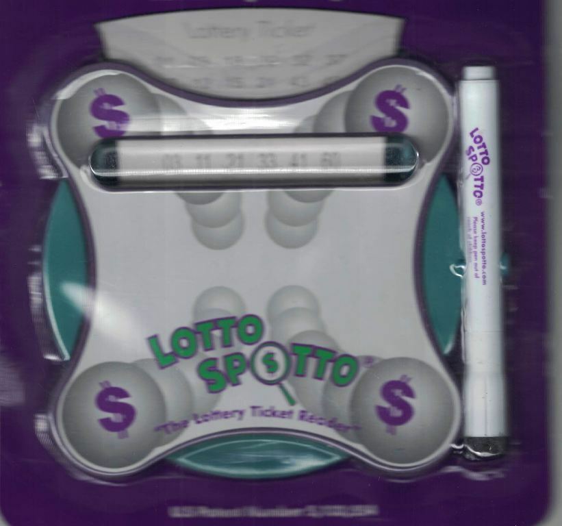 LOTTO SPOTTO Lottery Ticket Reader Magnifier Magnetic Dry Erase Pen Eraser - $7.42