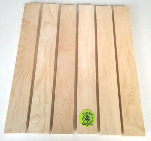 "3/4"" x 2"" x 16"" HARD MAPLE Wood Cutting Lumber Boards Kiln Dry"